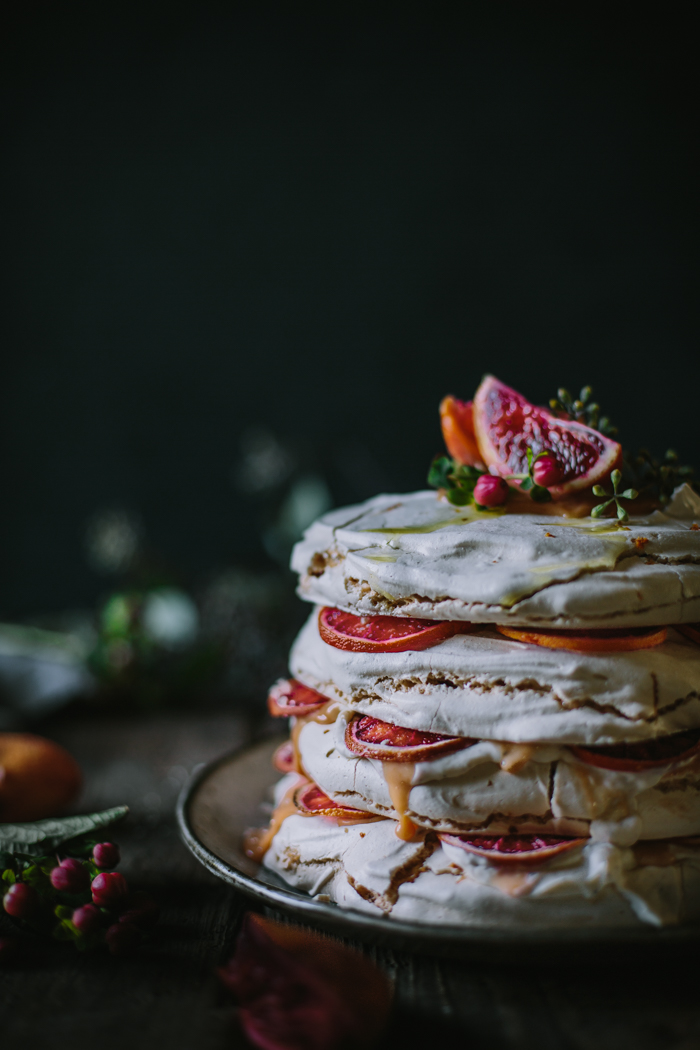 Blood Orange Olive Oil Meringue Stack by Eva Kosmas Flores-5