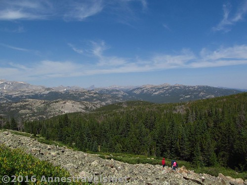 ...or you can go up the scree to the top of Roaring Fork Mountain, Wind River Range, Wyoming