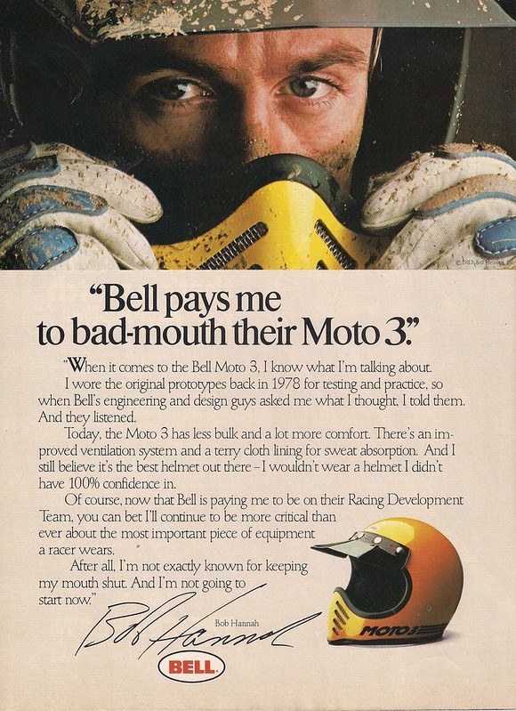 Bob Hannah Bell Moto 3