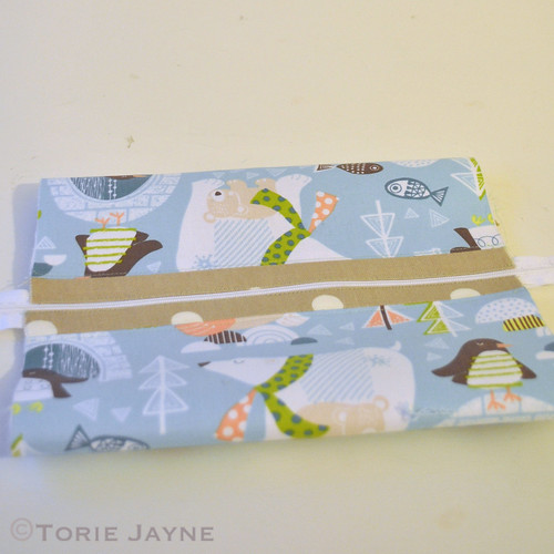 Contrast Fabric Washbag Sewing Tutorial 4