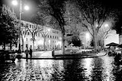 Firenze à noite em preto e branco