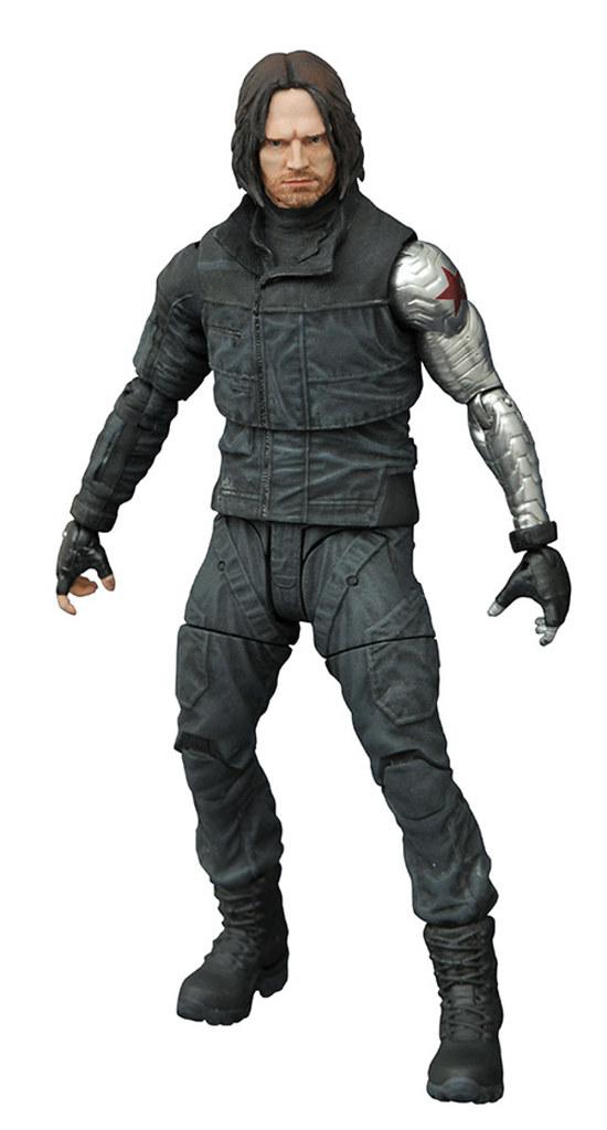 Marvel Select 美國隊長3:英雄內戰系列【酷寒戰士】Winter Soldier 7 吋人偶作品
