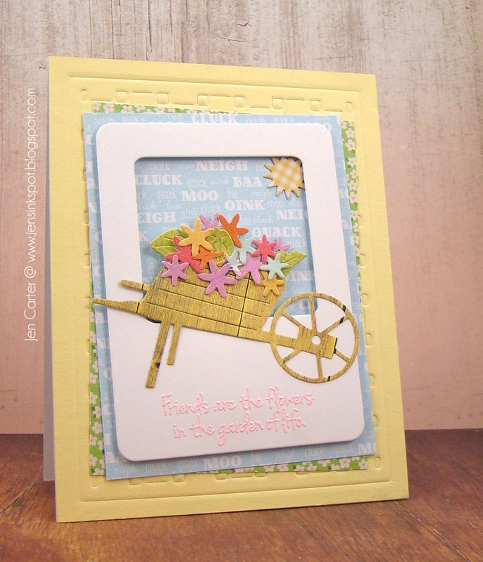 Jen Carter Wheelbarrow Friends Flowers