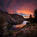 Ruby Lake Sunset - John Muir Trail by Bruce Lemons