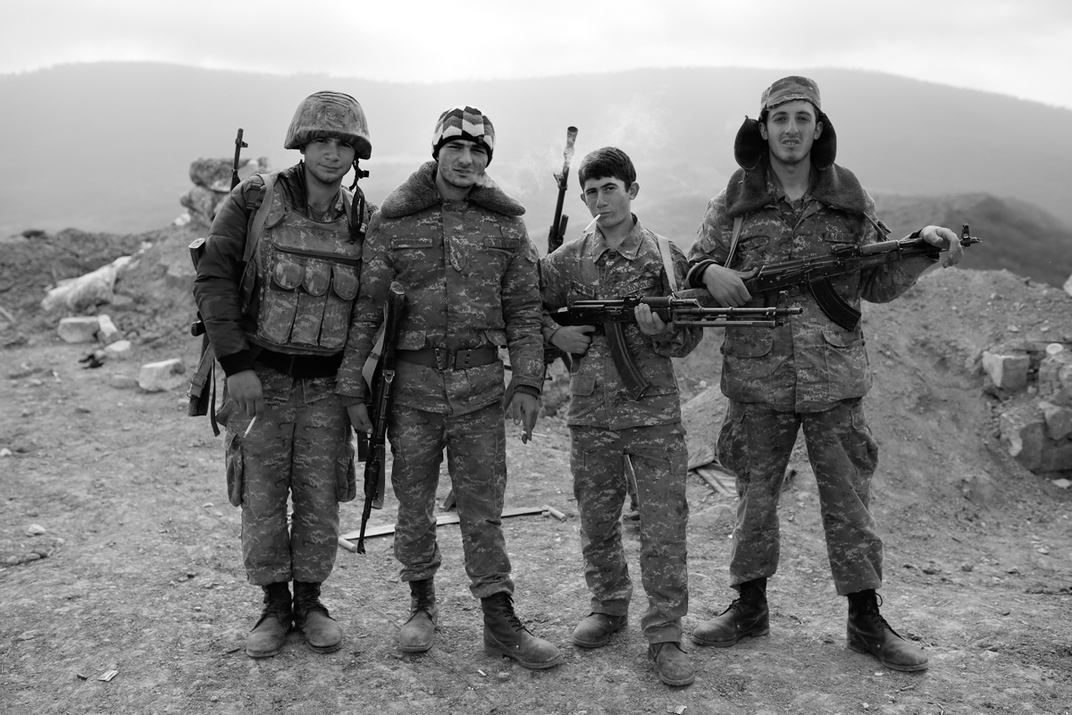 Northeastern Artsakh's frontline soldiers a few hours after recapturing Talish village.<br> (©PAN Photo / Karo Sahakyan)