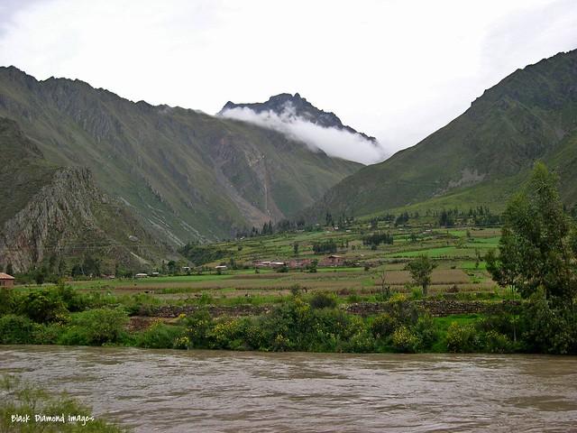 Shot from the Train of the Mountains Along the Route to Agua Calientes & Machu Picchu, Urubamba Province, Peru