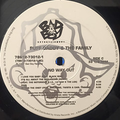 PUFF DADDY & THE FAMILY:NO WAY OUT(LABEL SIDE-C)