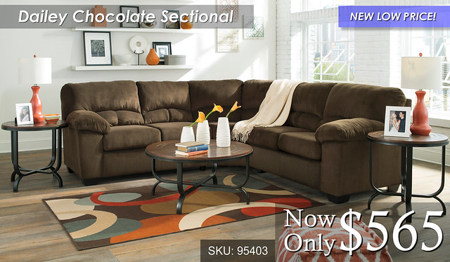 Dailey Chocolate Sectional NLP