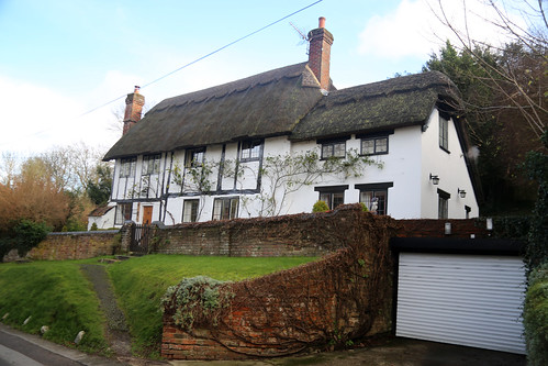 Thatched cottages in Whiteleaf, Buckinghamshire