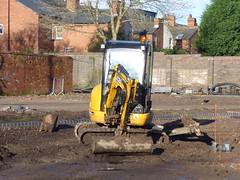 Lightwoods Park - Bearwood - Lightwoods House - restoration works begins - Shakespeare Garden - digger - JCB