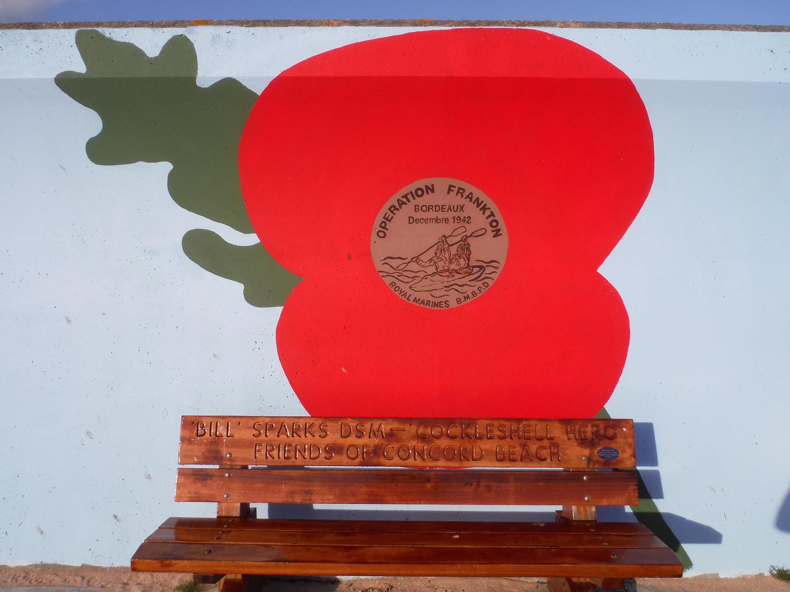 Royal Marines Dec 42 mural, Concord Beach, Canvey Island SWC Walk 258 Benfleet Circular (via Canvey Island)