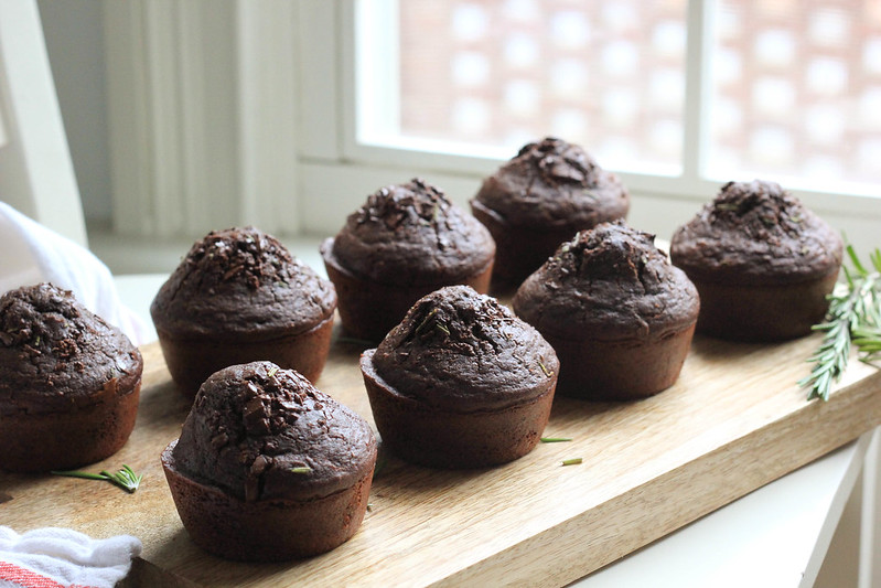 Chocolate Rosemary Muffins | Southern Soufflé