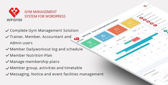 Codecanyon WPGYM v6 - Wordpress Gym Management System