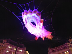 Crowd powered lights at Lumiere London