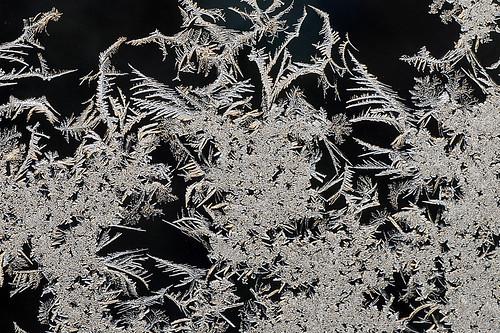 Ice-art on glass