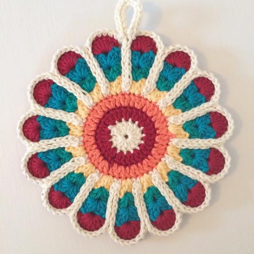 Crochet Flower Potholder Pattern : Crocheted Potholders