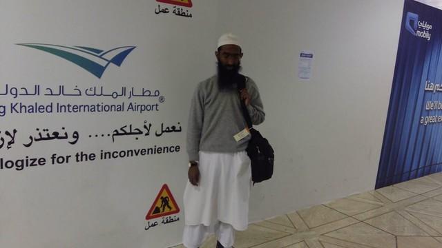 Shaykh Abu Zaid Zameer Hafidahullah at Riyadh Airport.
