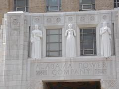 Relief Carvings Above Entrance to Alabama Power Co. Building---Birmingham, Al.