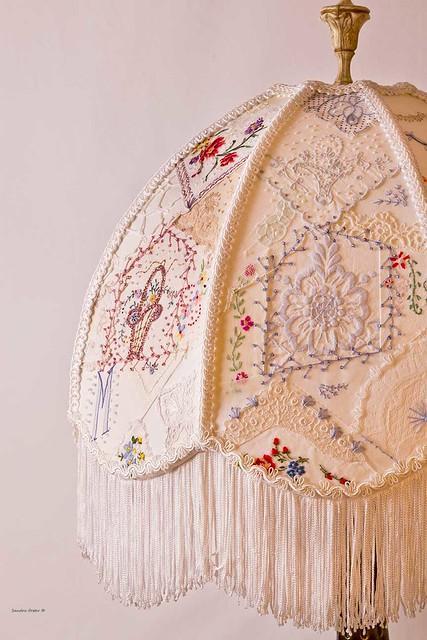 Vintage Lampshade Handstitched