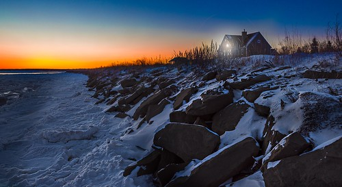 winter house snow canada cold ice beach nature sunrise landscape dawn frozen colours dusk cottage rocky atlantic newbrunswick maritimes eastcoast