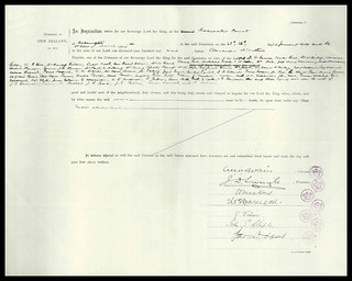 Coroner's Inquest for those killed in wreck of the SS Penguin 1909