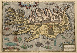 Ortelius kart over Island