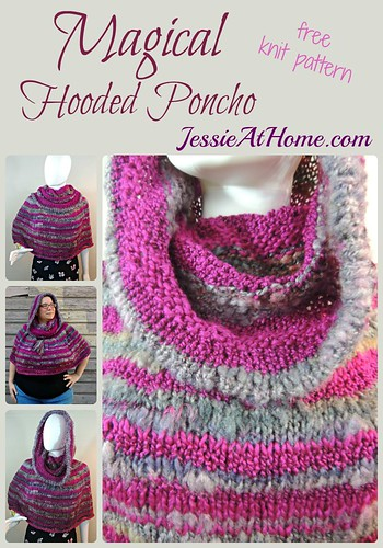 Magical Hooded Poncho - free knit pattern by Jessie At Home