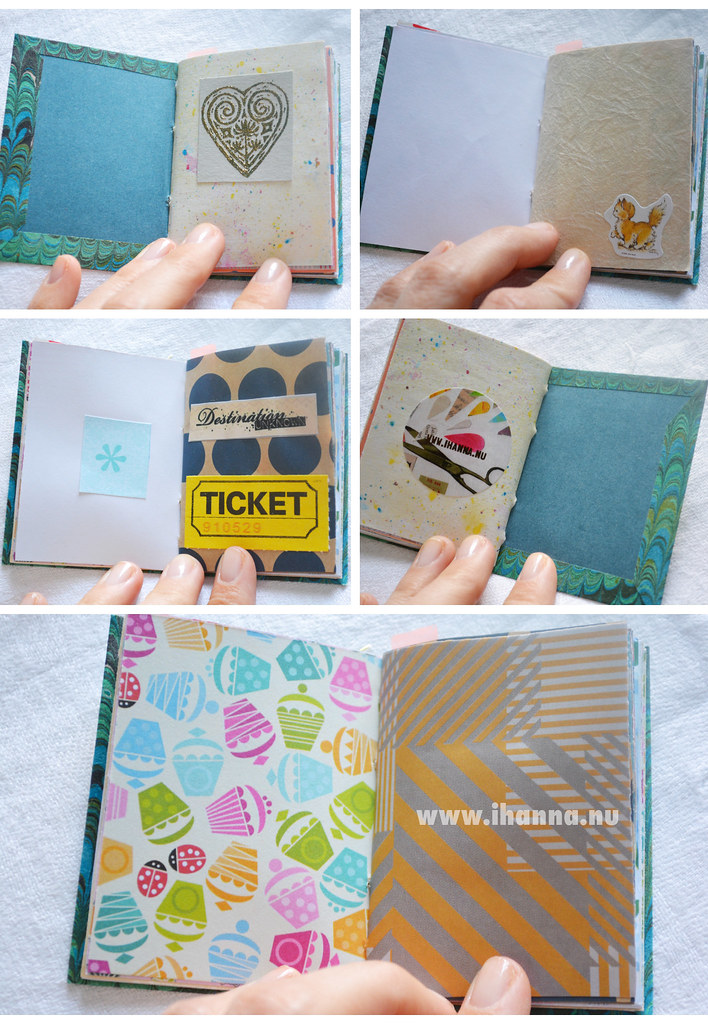 A miniature notebook with mixed papers more pages by iHanna - Copyright Hanna Andersson