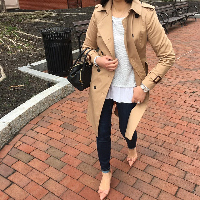 Ann Taylor Classic Long Trench