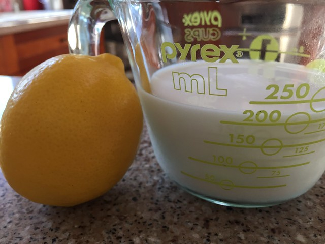 Milk+Lemon juice