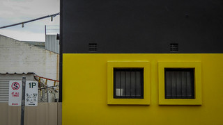 Barred Yellow Squares