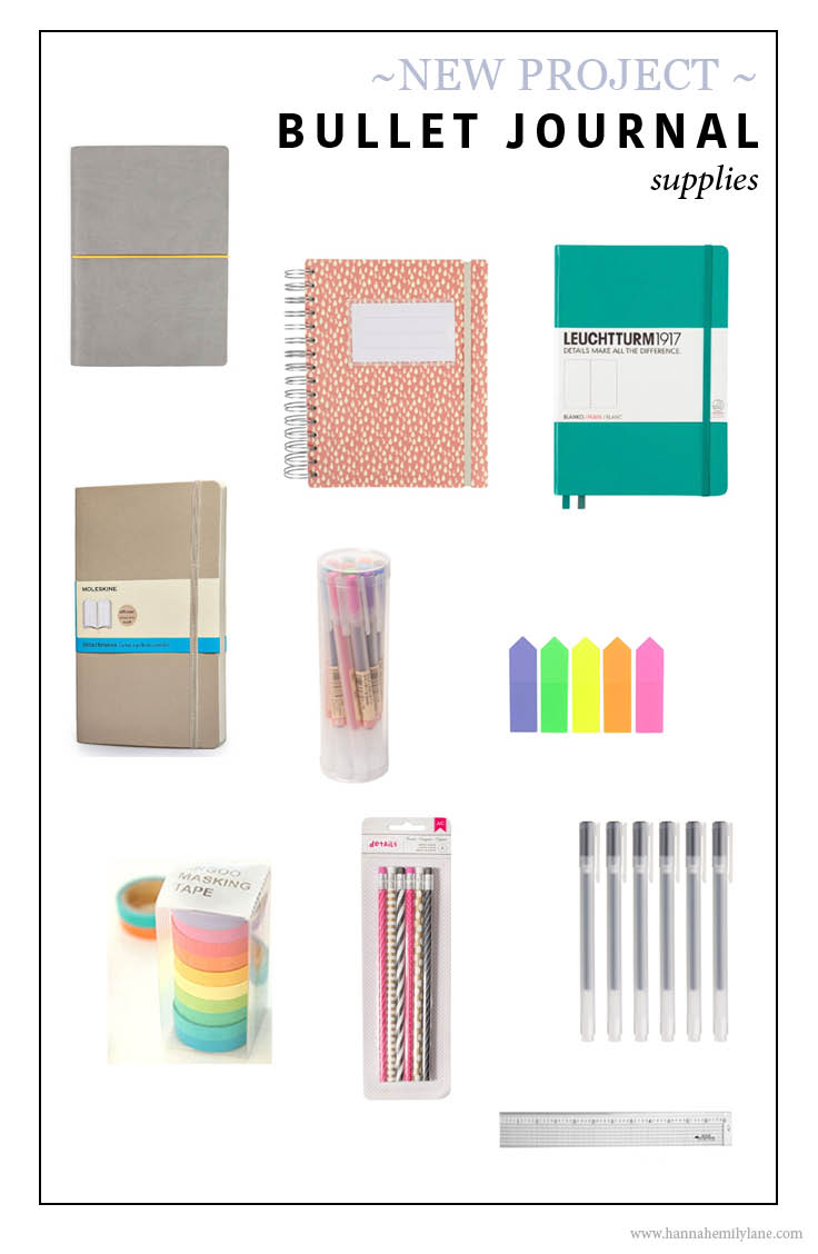 Bullet journal supplies - www.hannahemilylane.com