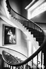 Black and White Interior Photography of Winding Staircase by Jim Crotty