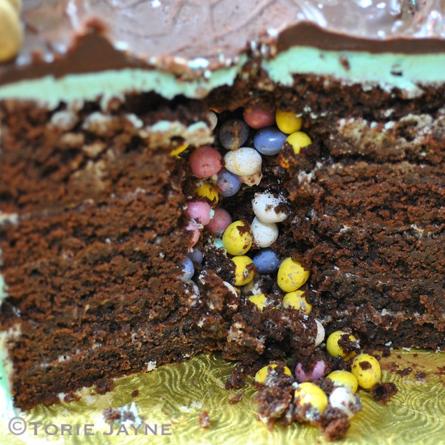 Hidden surprise inside cake
