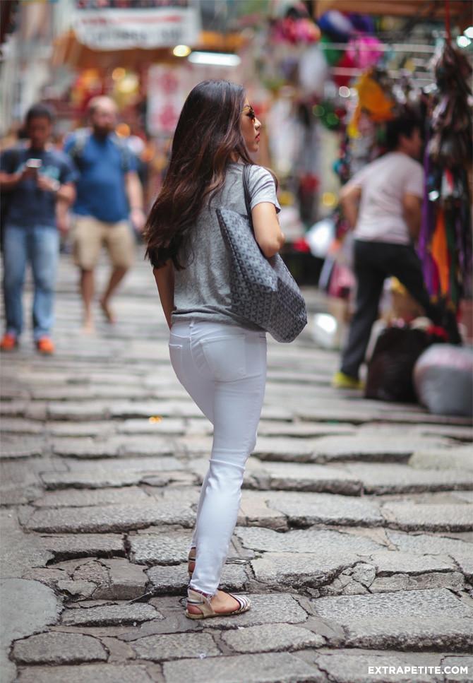 jbrand white distressed skinny jeans petite