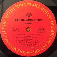 EARTH,WIND & FIRE:SPIRIT(LABEL SIDE-B)