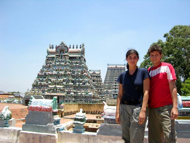 Templo Sri Ranganathaswamy desde los tejados.
