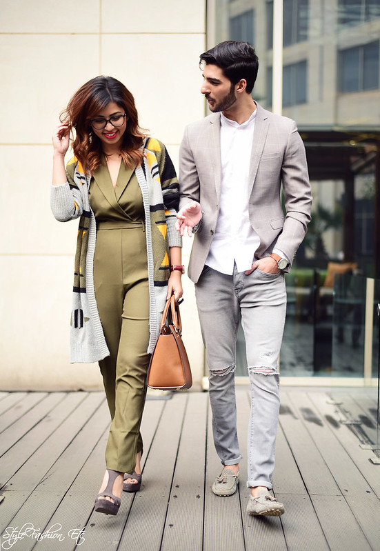 Srish Rohman Shawl jw marriott THE GRATEFUL THREAD Prince Of Wales Check Suit Jacket Vero Moda Koovs Michael Kors Zara Couple Office look newlook jumpsuit cardigan fall fashion streetstyle