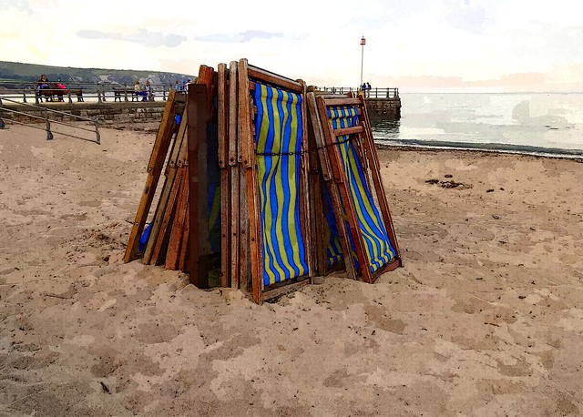 Stack of deckchairs