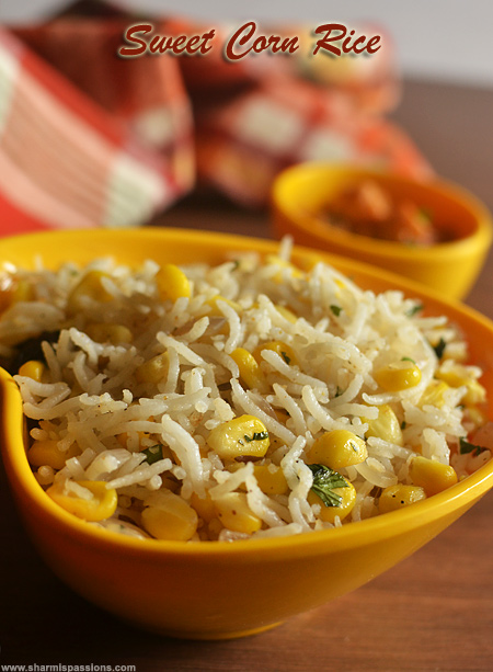 Sweet Corn Rice