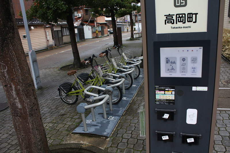 Cycling facilities in Kanazawa