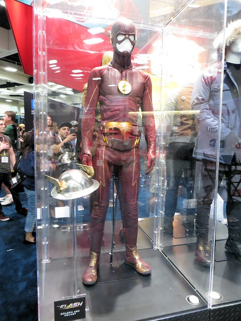 Flash Costume at DC Comics Booth