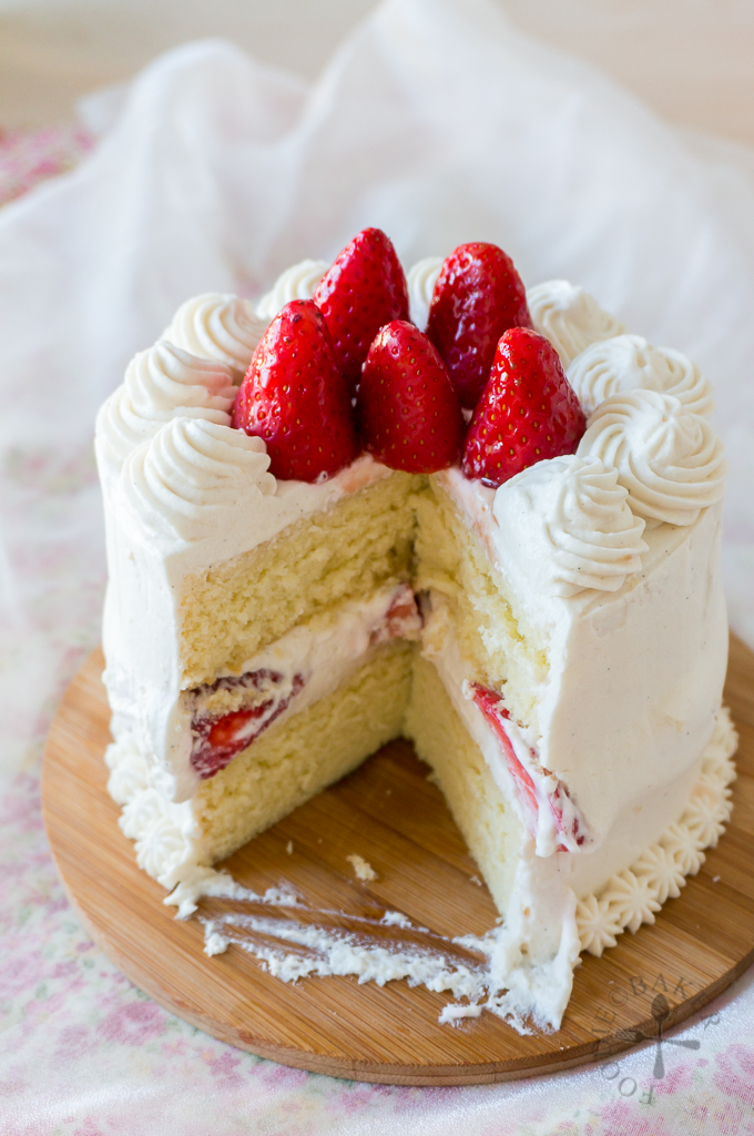 Japanese Strawberry Christmas Cake