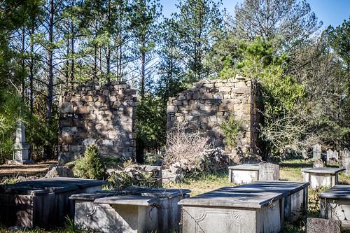 lebanon church cemetery us ruins unitedstates southcarolina rambling winnsboro