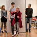 Hannah McPake, Dominic Marsh, Myra McFadyen, Iain Johnstone, John Pfumojena and Amanda Hadingue in rehearsals for I Am Thomas, Copperfield Rehearsal Rooms