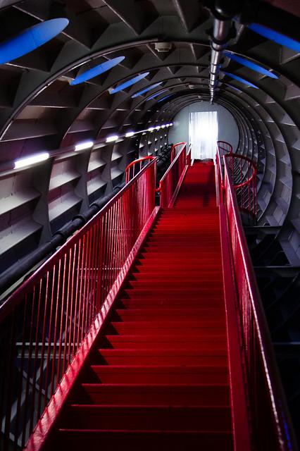 Atomium Red Stairs