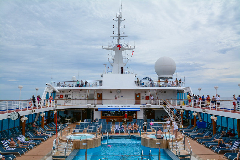 Pacific Princess Pool Deck