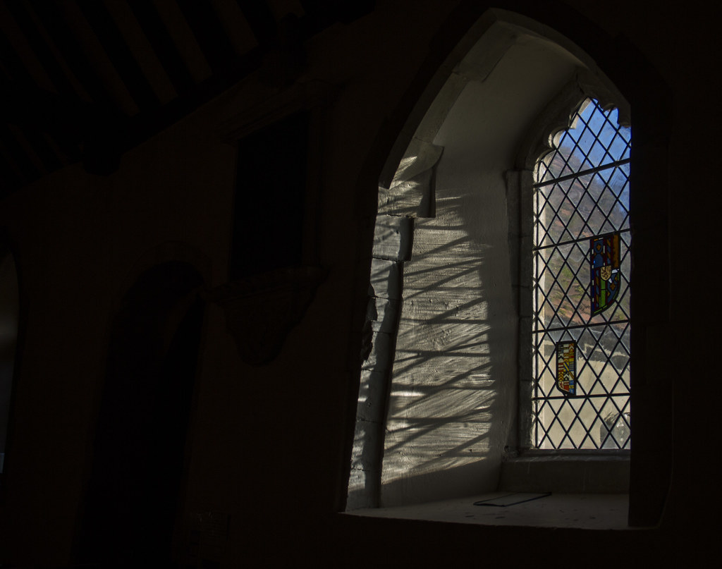 Stained glass at St. Mary the Virgin in Turville