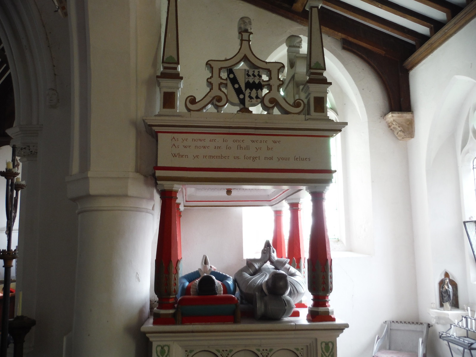 Tomb for the Cutte family, St. Mary the Virgin, Arkesden SWC Walk 116 Wendens Ambo [Audley End station] Circular