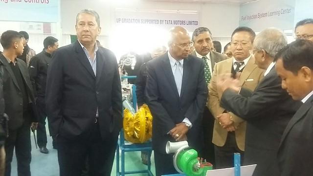 06. Ranjit Barthakur, S. Ramadorai, TR Zeliang, SP Joshi at ITI Kohima on 100216